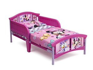 $39Delta Children Plastic Toddler Bed, Disney Minnie Mouse