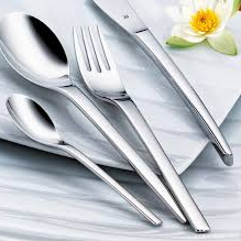 Lowest price! $52.00 WMF Nordic 30-Piece Flatware Set, Silver