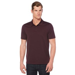Short Sleeve Textured Rib Polo