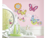 RoomMates Brushwork Butterfly Peel & Stick Wall Decals | Bon-Ton