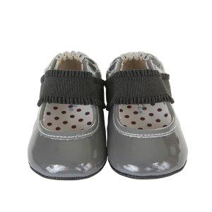 Annie Mini Shoez Baby Shoes, Grey   Robeez