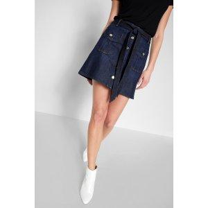 A Line Mini skirt 深蓝迷你牛仔裙