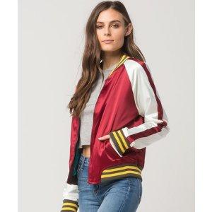 ASHLEY Retro Cali Womens Bomber Jacket