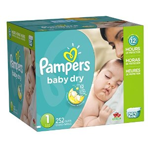 Amazon.com: Pampers Baby Dry Diapers Economy Pack Plus, Size 1, 252 Count: Health & Personal Care