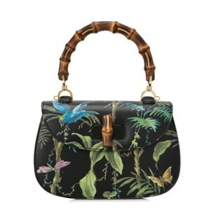 Gucci Bamboo Classic Tropical Top Handle