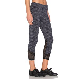 Lanston Sport Mesh Bottom Cropped Legging in Grey | REVOLVE