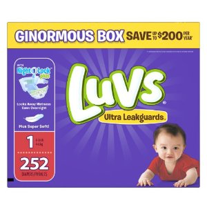 $17.98 Prime Member Only! Luvs Ultra Leakguards Diapers, Size 1, 252 Count