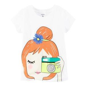 Baby Girl Camera Girl Graphic Tee   Carters.com