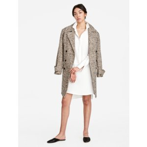 Halston Heritage -Oversized Double Breasted Coat
