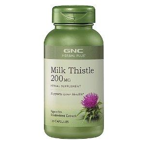 GNC Herbal Plus Milk Thistle 200 MG 100 Capsules