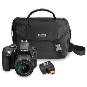 Nikon Refurbished D3300 w/ 18-55 VR II Lens + Wifi Adapter
