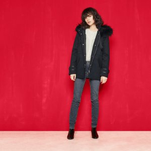 GAMAS Canvas parka with detachable hood - Coats & Jackets - Maje.com