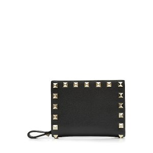 Rockstud Leather Flap French Wallet from VALENTINO | Luxury fashion online | STYLEBOP.com