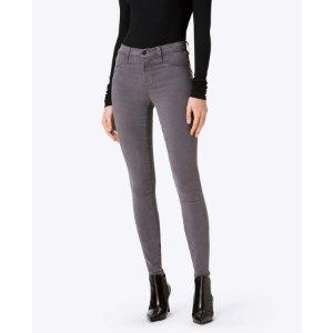 485 Mid-Rise Super Skinny Pant in Storm Grey - J Brand