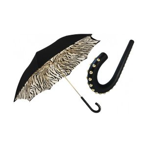 Unineed.com | Pasotti Black Tiger-Striped Umbrella, Double Cloth (includes gift box) - Premium beauty and fashion from Unineed.com