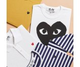 Comme des Garcons Play Dyed Cotton Graphic Tee