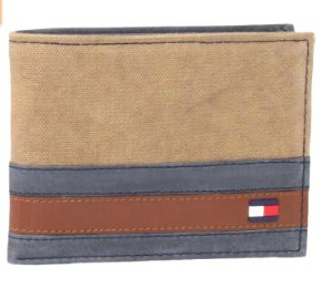Tommy Hilfiger Men's Exeter Passcase Billfold Wallet with Removable Card Case