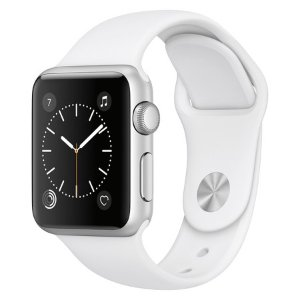Apple® Watch Series 1 38mm Silver Aluminum Case with White Sport Band : Target