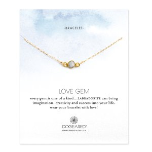 Love Gems Labradorite Bracelet, Gold Dipped | Dogeared