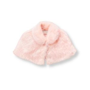 Baby Girl Blush Faux-Fur Capelet at JanieandJack