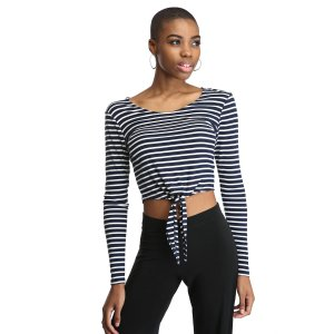 Lovers + Friends Striped Tie Front Top   South Moon Under