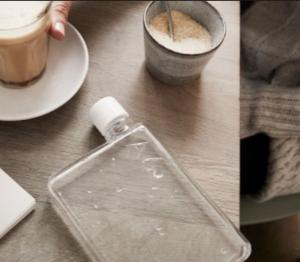 $8.99(reg. $12.99) Asobu E Flask Plastic Water Bottle, 16 oz., Clear