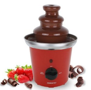 $19.99(reg.$24.99) Ovente CFS43R Two-Tier Stainless Steel Party Chocolate Fondue Fountain