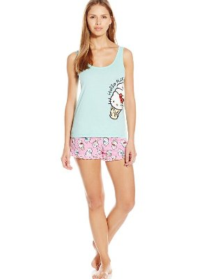 $9.72(reg.$30.00) Hello Kitty Women's Candy Coated Short Set