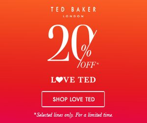 20% Off the Love Ted Sale @ Ted Baker