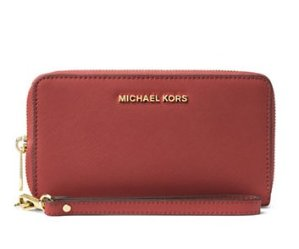 25% off + Extra 20% MICHAEL MICHAEL KORS Jet Set Leather Multi Function Travel Phone Case