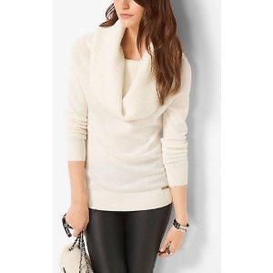 MICHAEL MICHAEL KORS Cowl-Neck Merino Wool-Blend Sweater