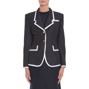 Thom Browne Wool & Mohair Jacket With Contrasting Colour Trim Women - Eleonora Bonucci