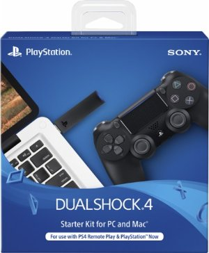 Sony - Dual Shock 4 Wireless Controller Starter Kit Sony PlayStation 4 - Black