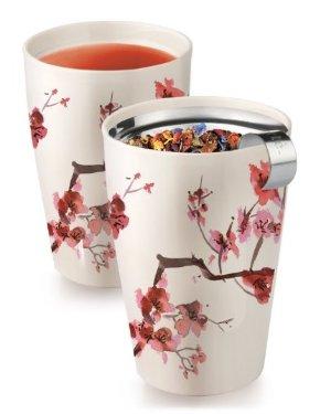 $13.99限今天!Tea Forte KATI 带茶滤 樱花杯