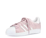 adidas Superstar Original Fashion Sneaker, Clear Pink/White
