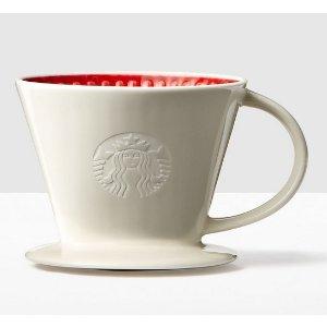Red & White Pour-Over Cone