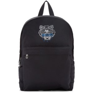Kenzo: Black Nylon Tiger Backpack | SSENSE