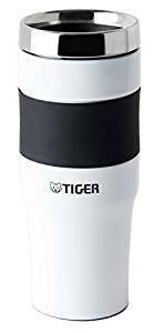 Tiger MCE-A048-W Stainless Steel Vacuum Insulated Travel Mug, 16-Ounce, White