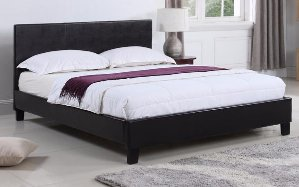 Malawi Classic Bonded Leather Bed, Twin Size