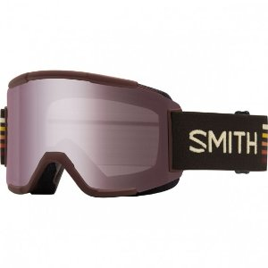 Smith Optics Squad Ski Goggles (Oxblood Sunset Frame/Ignitor Mirror/Yellow Lens) | Focus Camera