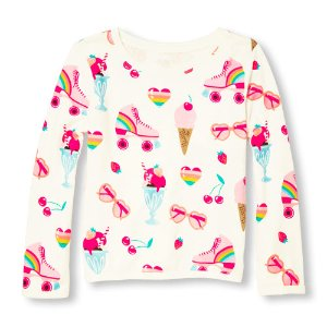 Girls Active Long Sleeve Sweet Shop Print Sweatshirt | The Children's Place