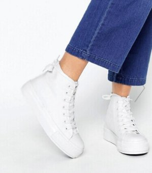New Look High Top Platform Sneaker @ ASOS