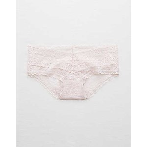 Aerie Vintage Lace Boybrief , Ballet Pink | Aerie for American Eagle