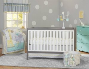 Garanimals Animal Crackers 3-Piece Crib Bedding Set
