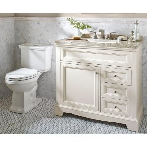 Home Decorators Collection Windsor Park 37.56 in. W Vanity in Cream with Solid Surface Vanity Top in Autumn with White Basin and Mirror-WP36P3-CR - The Home Depot