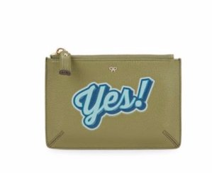 Anya Hindmarch Printed Leather Zip Pouch