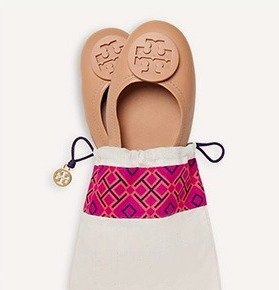 20% Off on 2 or More Pairs of Tory Burch Minnie Travel Ballet Flats @ Bloomingdales