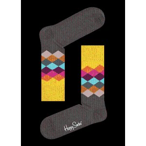 colorful designed Faded Diamond Socks at Happy Socks!