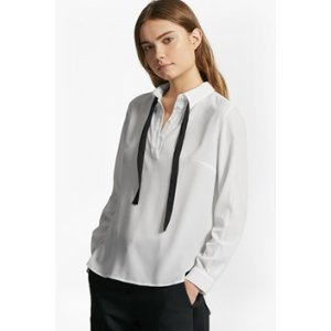 Polly Plains Tie Neck Shirt | Sale | French Connection Usa