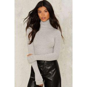 Stretchy Cozy Grey Sweater